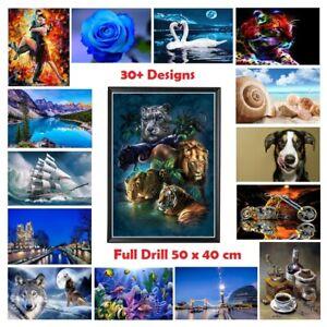 5D Diamond Painting Full Drill Decor Wall Art Cross Stitch Embroidery DIY 40x50