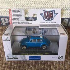 M2 Machines Autothentics '53 VW Beetle Deluxe USA Blue Hood Opens VW03 RR Cube