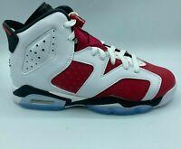 Nike Air Jordan 6 Retro Carmine GS 384665-106 2021 Size 6.5Y - 7Y