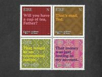 Ireland-Father Ted set of 4 stamps mnh 2020-Television-