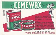V49 BUVARD CEMEWAX Enduit plastique lavable
