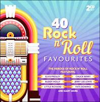 ROCK & ROLL * 40 Greatest Hits * New 2-CD Boxset * All Original 50's + 60's Hits