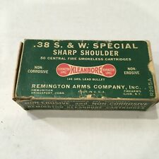 Vintage Remington .38 S&W Special 146 Grain Lead Bullet Dogbone Ammo Box Empty