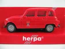 """Herpa 4119 Renault r4 (1978) """"POMPIERS VILLE Sécheresse"""" en rouge 1:87/h0 Nouveau/Neuf dans sa boîte"""
