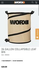 Worx Collapsable Lawn Bag New