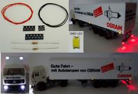 SMD LED Beleuchtungsset Bausatz 16 tlg. für LKW Trucks PKW Spur H0 C2926