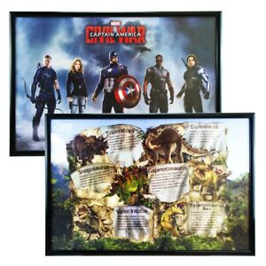 Black silver maxi quad poster picture frame 27 x 40inch 61 x 91.5cm 30x40inch