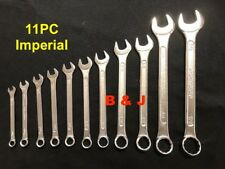 11 PC Imperial Combination Spanner Set SAE Tool Auto Mechanic Car Truck Motor AF