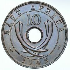EAST AFRICA GEORGE VI 10 CENTS, 1945 PRETORIA MINT COIN UNC