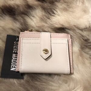 NWT Steve Madden Bhayden Card Case Wallet - Beautiful Blush & Sand