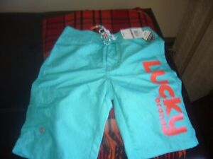 NWT BOYS LUCKY BRAND  SWIMSHORTS SIZE 12Y ($39.50)