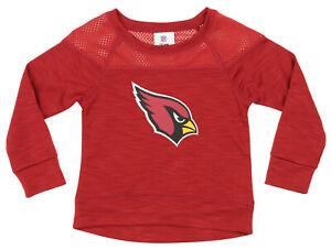 NFL Girls Youth Arizona Cardinals Streaky Performance Sweatshirt Top, Red