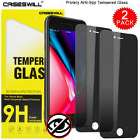 For iPhone 8 7 6s 6 Plus Privacy Anti-Spy Tempered Glass Film Screen Protector