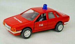"Diecast JUL ""Feuerwehr"" Audi 100 Auto 1:45 Scale Pull-back Motor Hong Kong Mint"