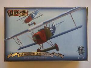 """Wingnut Wings #32067 1/32 Fokker D.VII (Fok) """"Early"""", WWI Fighter"""