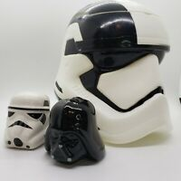 Star Wars Storm Trooper Darth Vader Salt Pepper Shakers AND Cookie/Popcorn Jar