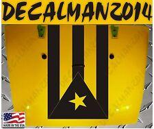 Jeep Wrangler Rubicon Blackout Puerto Rico flag vinyl hood decal JK JKU LJ TJ