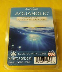 Scent Sationals AQUAHOLIC EUCALYPTUS & SEA SALT Wax Melts 6 cubes 2.50 oz