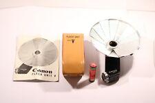 Unidad De Flash Canon Modelo V Con Estuche De Cuero Original Para Canon Serie V