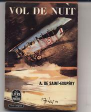 Vol de Nuit by A. de Saint-Exupery  Night Flight, French, 1963 Vintage French PB