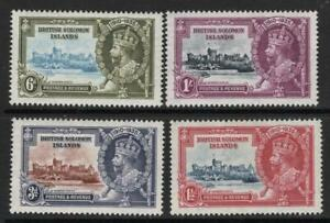 BR. SOLOMON ISLES. 1935  S.J. SET of 4  Mint + Gum Excellent Quality and Looking