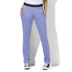 WonderTech Women's 5113 6 Pocket Straight Leg Scrub Pant -NEW-FREE SHIP