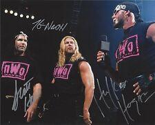 *WCW HULK HOGAN. KEVIN NASH. SCOTT HALL NWO TRIPLE SIGNED 8X10 PHOTO & C.O.A.*