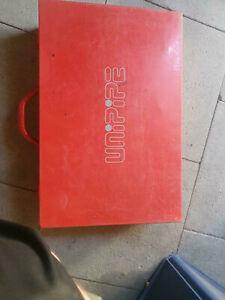 Unipipe Pressbackenkoffer Größen 16, 18, 2× 20, 25