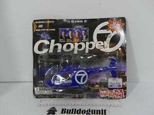 News Channel 7 Chopper Helicopter Lights Up Toy Blue Plastic Vehicle Toys for To