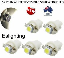 5X 12V T5 B8.5D WHITE LED CAR UTE DASH TWIST LOCK INSTRUMENT CLUSTER GAUGE BULB