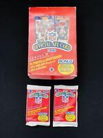 Lot of 1989 Pro Set Series 2 Football Packs (2) *Possible Barry Sanders Rookie*