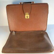 Vintage Retro Tan Leather Cheney Gladstone Briefcase Doctors Schoolmaster's Bags