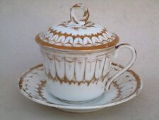 Porcelain paris cup was queen chocolate cup has a lunch 19ème siecle