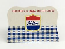 Vintage Sewing Needle Card Booklet Weston Bakeries limited 14 Needles Total J111