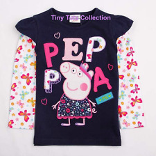 AUS Seller NEW BNWT with tags girls long sleeve Peppa Pig top tshirt Navy size 2