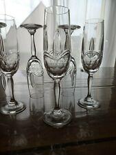6 Flutes à champagne cristal Grand Duc artisanat Lorrain signé