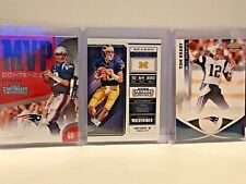 TOM BRADY LOT OF 3 2011 GRIDIRON #4, DRAFT PICKS #94, CONTENDERS #MVP-4
