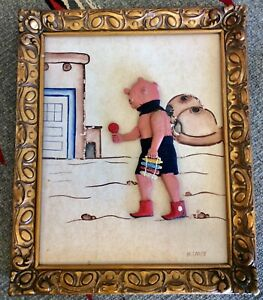 Unusual Vintage Hopi Mudhead Framed Artwork