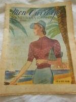 MON OUVRAGE 1939 n°383 trousse liserons  blouson service à thé tapisserie
