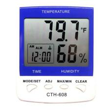 CTH-608 LCD Digital Thermometer-hygrometer 14F-140F Humidity 20-95% White USA