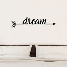Sweet dreams Arrow infinity LOVE Quote Wall Stickers Bedroom Removable Decal DIY