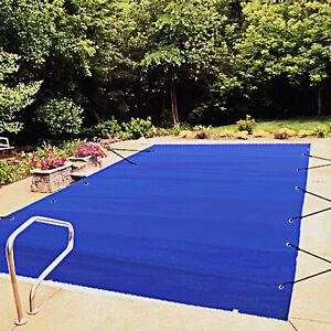 VEVOR Pool Abdeckplane 4x8 m Winterabdeckplane Rechteckig Poolüberdachung Blau