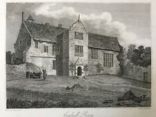 1809 Antique Print;  Rare View; Combwell Priory,  Goudhurst, Kent