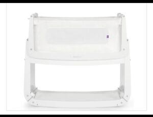 Snuzpod 3 bedside crib Next To Me Crib White