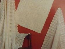 Baby Blanket/Pram/Cot/Shawl Christening Vintage Knitting/Crochet Pattern H1500
