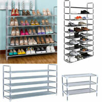 5/10 Tier Shoe Rack Tower Cabinet Storage Organizer Holder Shelf Space Saving US