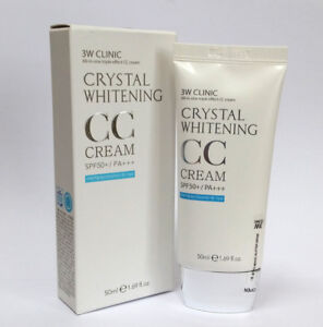 [3W CLINIC] Crystal Whitening CC Cream 50ml SPF50 PA+++/Glitter & Natural Beige
