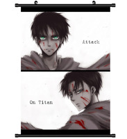 4171 Anime Attack on Titan Home Decor Poster Wall Scroll cosplay A