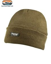 Quality Kombat Olive Green Thinsulate Lined Bob Hat Beanie Fishing Shooting