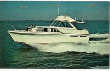 Pacemaker Alglas 43' Motor Yacht Luxury Cruising Boat Vintage Unused Postcard